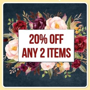 20% off any 2 items!!